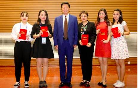 获京津冀俄语大赛一等奖的同学